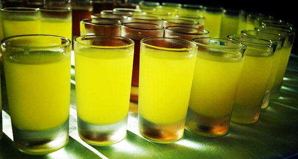 vasos limoncello